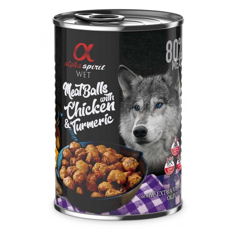 Alpha Spirit z kurczakiem i kurkumą - Mięsne klopsiki dla psa