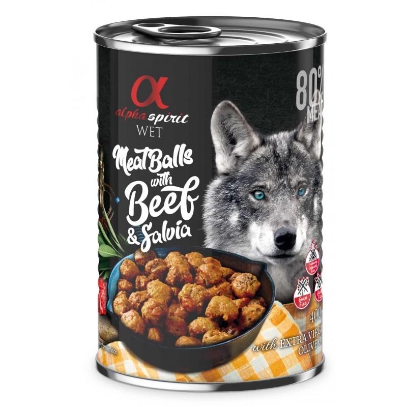 Alpha Spirit z wołowiną i szałwią - Mięsne klopsiki dla psa