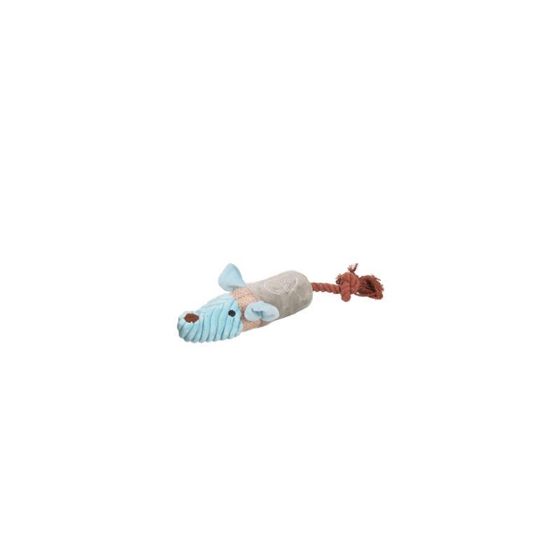 FLAMINGO PLUSZOWY SZCZUREK Z LINĄ - Zabawka dla psa