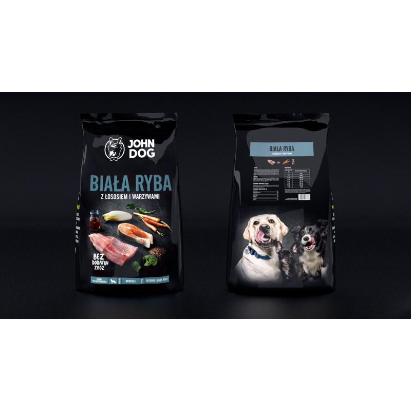 John Dog Biała Ryba z Łososiem i Warzywami - Karma Sucha dla psa