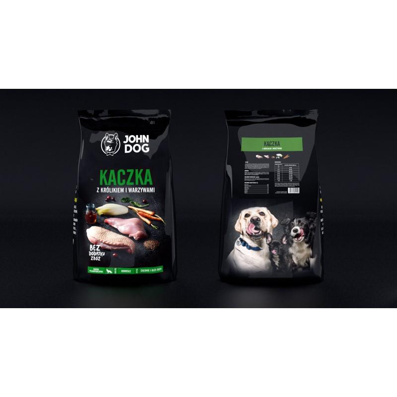 John Dog Kaczka z królikiem i warzywami - Karma sucha dla psa