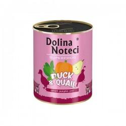 Dolina Noteci Premium Superfood Kaczka przepiórka  - karma mokra dla psa