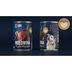 John Dog wołowina z borówkami - Karma mokra dla psa
