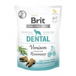 BRIT CARE DOG FUNCTIONAL SNACK DENTAL VENISON 150 g - przysmak dla psa