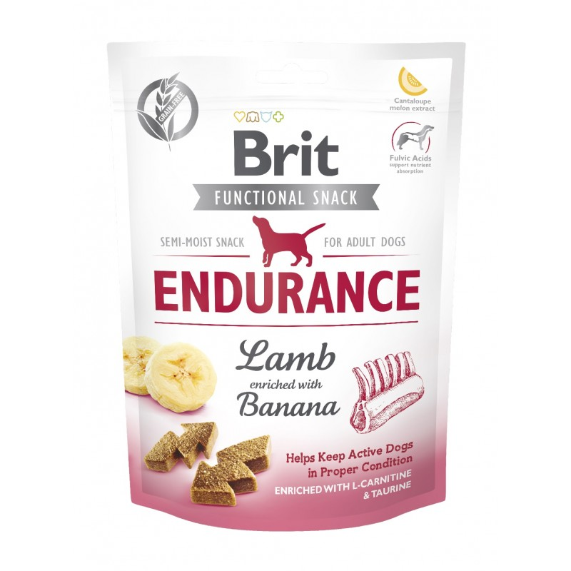 BRIT CARE DOG FUNCTIONAL SNACK ENDURANCE LAMB 150 g - przysmak dla psa