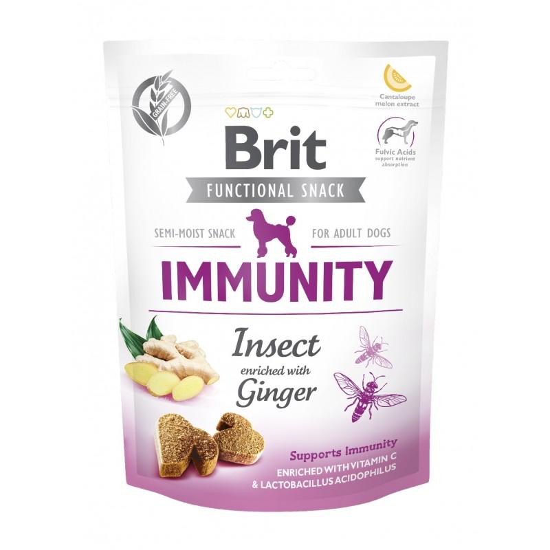 BRIT CARE DOG FUNCTIONAL SNACK IMMUNITY INSECT 150 g - przysmak dla psa