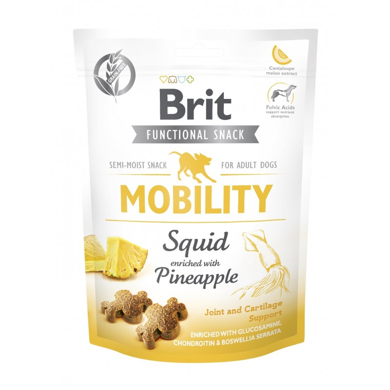 BRIT CARE DOG FUNCTIONAL SNACK MOBILITY SQUID 150 g - przysmak dla psa