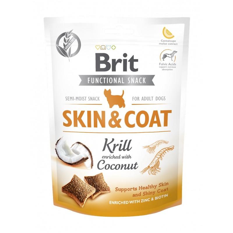 BRIT CARE DOG FUNCTIONAL SNACK SKIN&COAT KRILL 150 g - przysmak dla psa