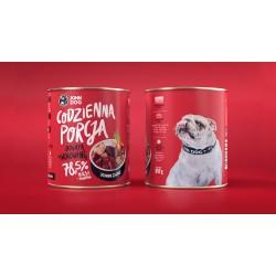 John Dog Codzienna Porcja Bogata w wołowinę - karma mokra dla psa