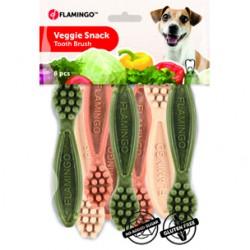 FLAMINGO GRYZAK VEGGIE SZCZOTECZKA 7,5cm x15 - przysmak dla psa