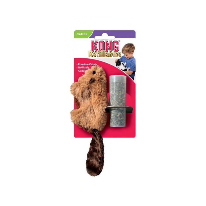 KONG BÓBR Z KOCIMIĘTKĄ - zabawka dla kota