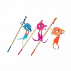 COOCKOO ZABAWKA FISHING ROD MIX KOLOR - zabawka dla kota