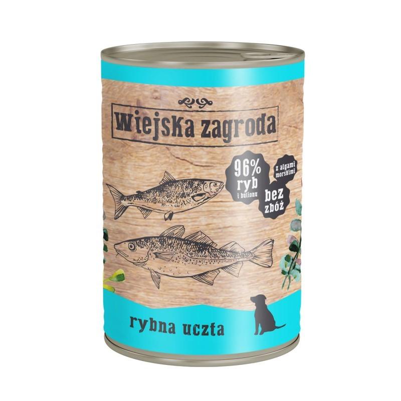 Wiejska Zagroda Rybna uczta 12 x 400 g - karma mokra dla psa