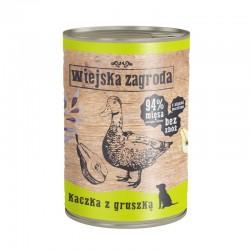 Wiejska Zagroda Kaczka z gruszką 12 x 400 g - karma mokra dla psa