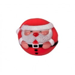 DINGO świąteczna piłka dla psa MIKOŁAJ 8 cm