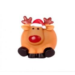 DINGO świąteczna piłka dla psa RENIFER 8,5 cm