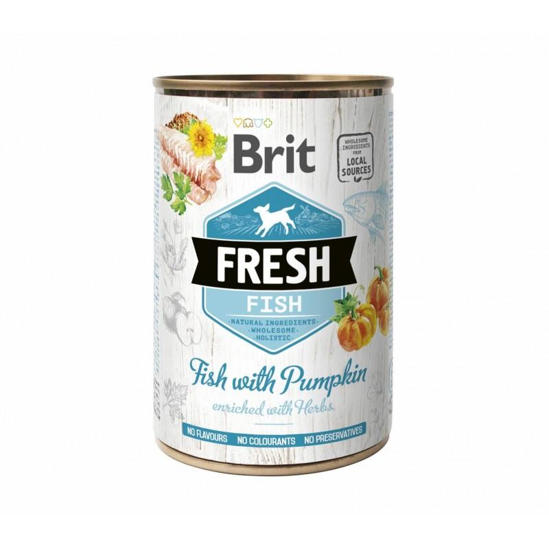 BRIT FRESH FISH&PUMPKIN - Karma mokra dla psa