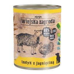 Wiejska Zagroda Indyk z jagnięciną - karma mokra dla psa