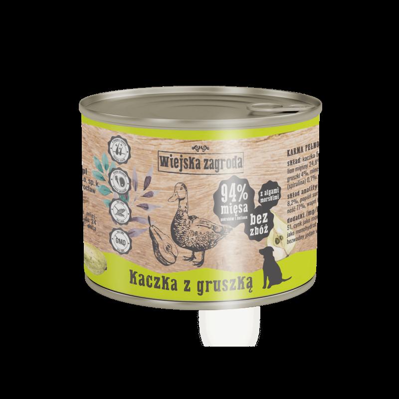 Wiejska Zagroda Kaczka z gruszką - karma mokra dla psa