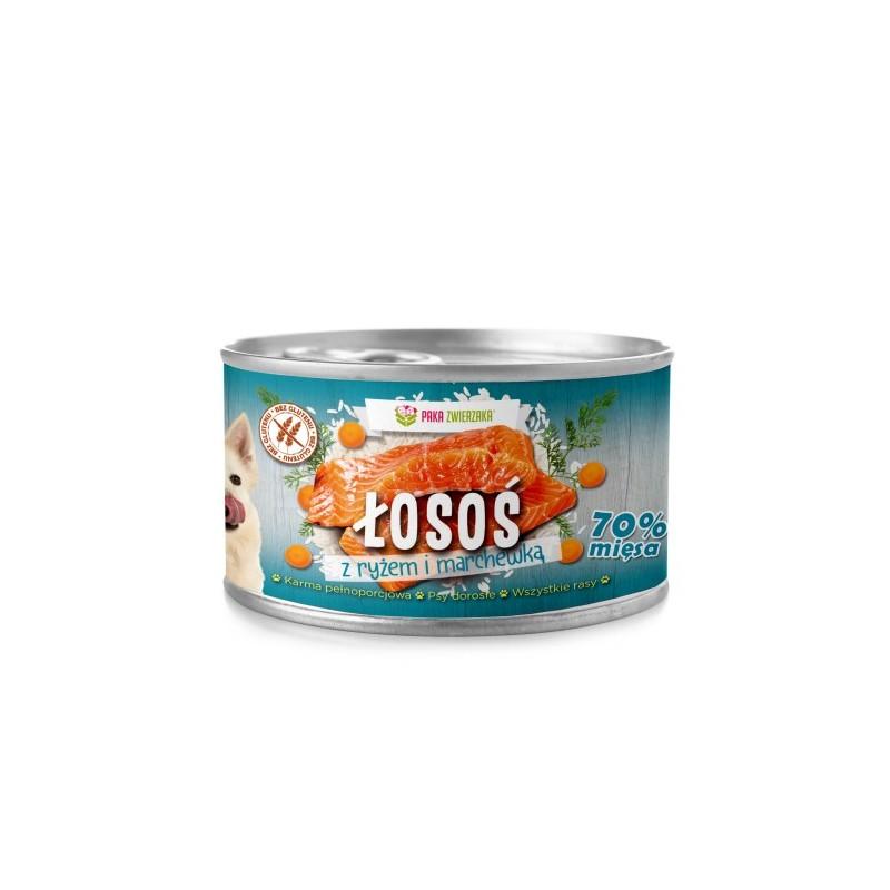 Paka Zwierzaka Łosoś z ryżem i marchewką - karma mokra dla psa