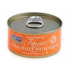 Fish4Cats Tuńczyk z Kałamarnicą (tuna fillet with squid) 70g - Karma mokra dla kota