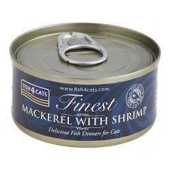 Fish4Cats Macrela z krewetkami (mackrel with shrimp) 70g - Karma mokra dla kota