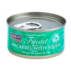 Fish4Cats Macrela z kałamarnicą (mackrel with squid) 70g - Karma mokra dla kota