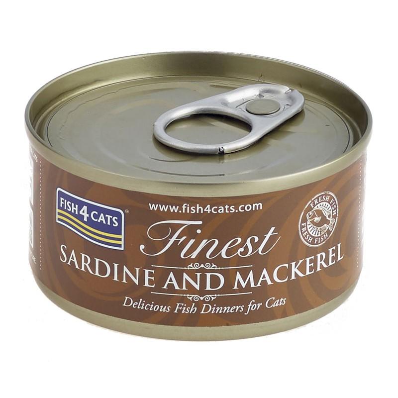 Fish4Cats Sardynka z makrelą 70g - Karma mokra dla kota