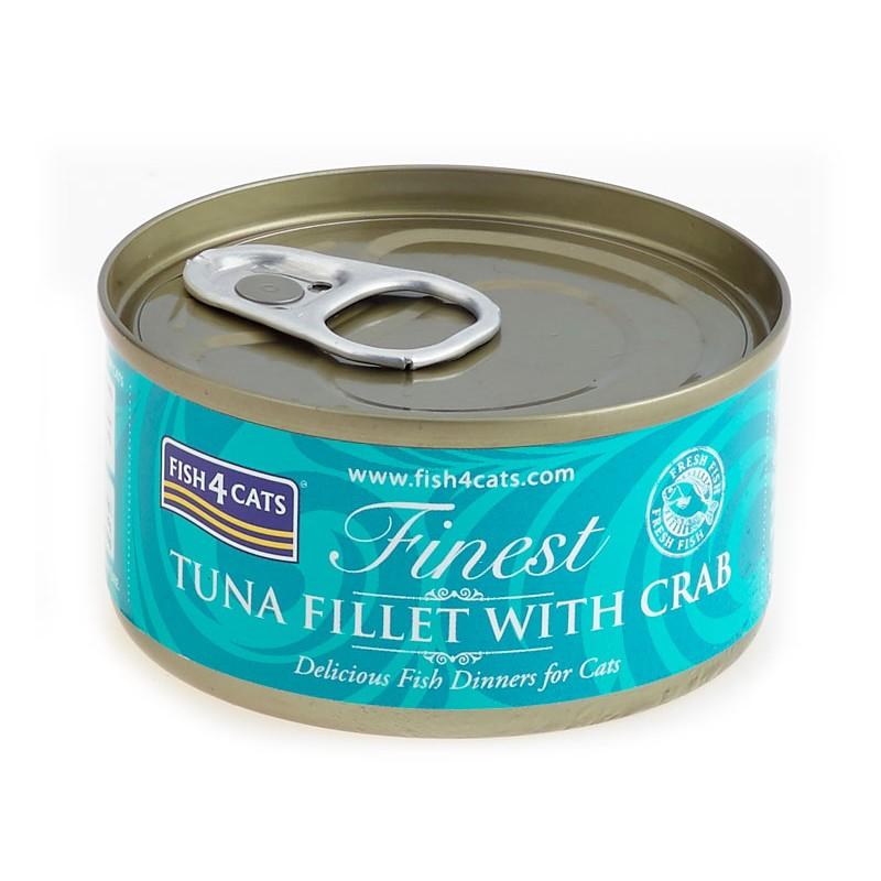 Fish4Cats Tuńczyk z krabami (tuna fillet with crab)70g - Karma mokra dla kota