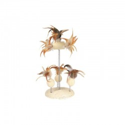 Zabawka dla kota z piórkami na sprężynie, 15x30 cm