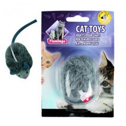 FLAMINGO Zabawka dla kota MYSZ PISZCZĄCA