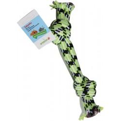Yarro zabawka dla psa podwójny sznur 38 cm zielony