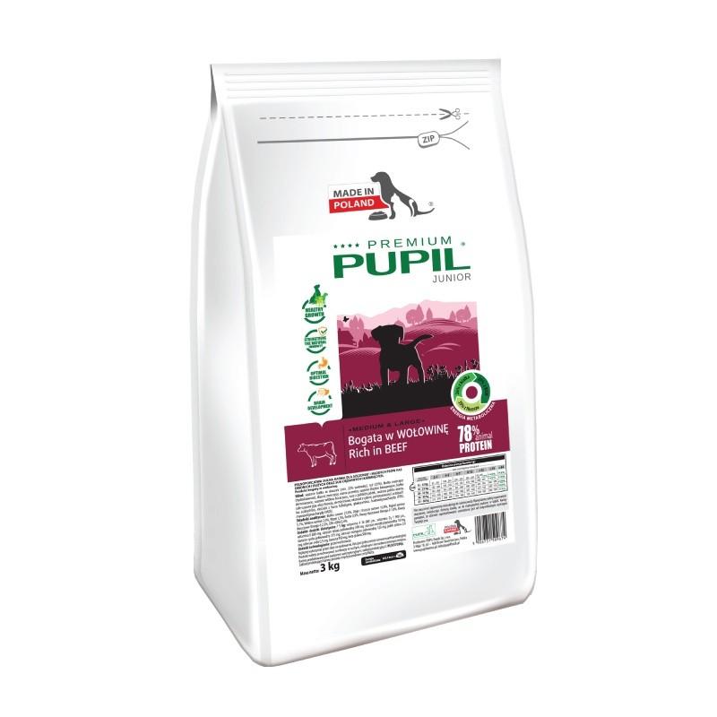 PUPIL Premium JUNIOR MEDIUM & LARGE bogata w wołowinę