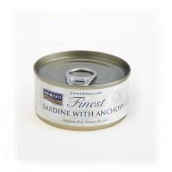 FISH4CATS SARDYNKA Z anchois (sardine with anchovy) 70G - KARMA MOKRA DLA KOTA