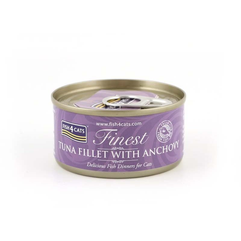 FISH4CATS Tuńczyk z Anchois (tuna fillet with anchovy) 70G - KARMA MOKRA DLA KOTA