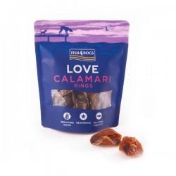 Fish4Dogs LOVE CALAMARI RINGS Przysmaki z kalmarów dla psów