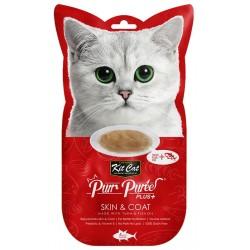 Kit Cat Purr Puree Plus+ Tuna & Fish Oil (Skin & Coat) 4x15g