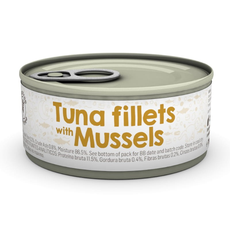 Naturea 85g Filet tuńczyka z małżami puszka dla kota