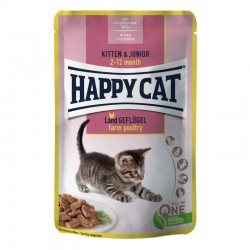 Happy Cat Kitten & Junior Farm Poultry mokra karma dla kociąt