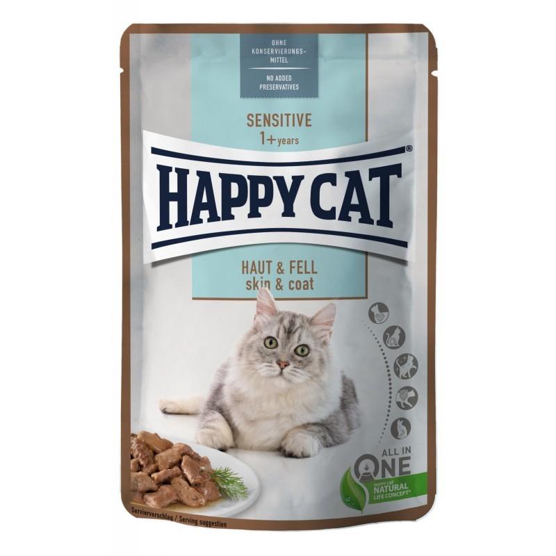 Happy Cat Sensitive Skin & Coat mokra karma dla kotów