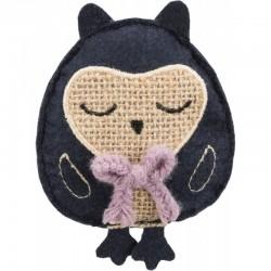 TRIXIE Sowa zabawka dla kota materiał/juta 11 cm z kocimiętką