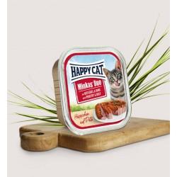 HAPPY CAT Pasztet kurczak z wołowiną