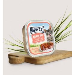 HAPPY CAT Pasztet drób z łososiem