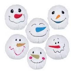 Trixie piłki śnieżynki pluszowe z dźwiękiem 10 cm