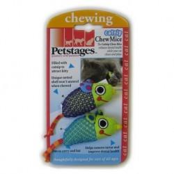 Petstages Myszki bliźniaczki z kocimiętką - zabawka dentystyczna dla kota