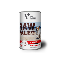 VetExpert RAW PALEO Adult Light - niskokaloryczna karma mokra dla dorosłych psów