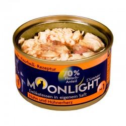 Moonlight Dinner Nr 1 - Karma mokra dla kota / Kurczak i serca z kurczaka