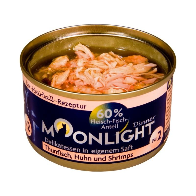 Moonlight Dinner Nr 2  - Karma mokra dla kota / Tuczyk, kurczak, krewetki