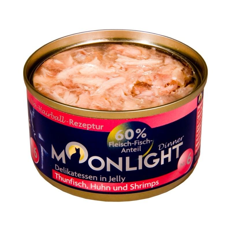 Moonlight Dinner Nr 6  - Karma mokra dla kota / Tuńczyk, kurczak i krewetki w galarecie